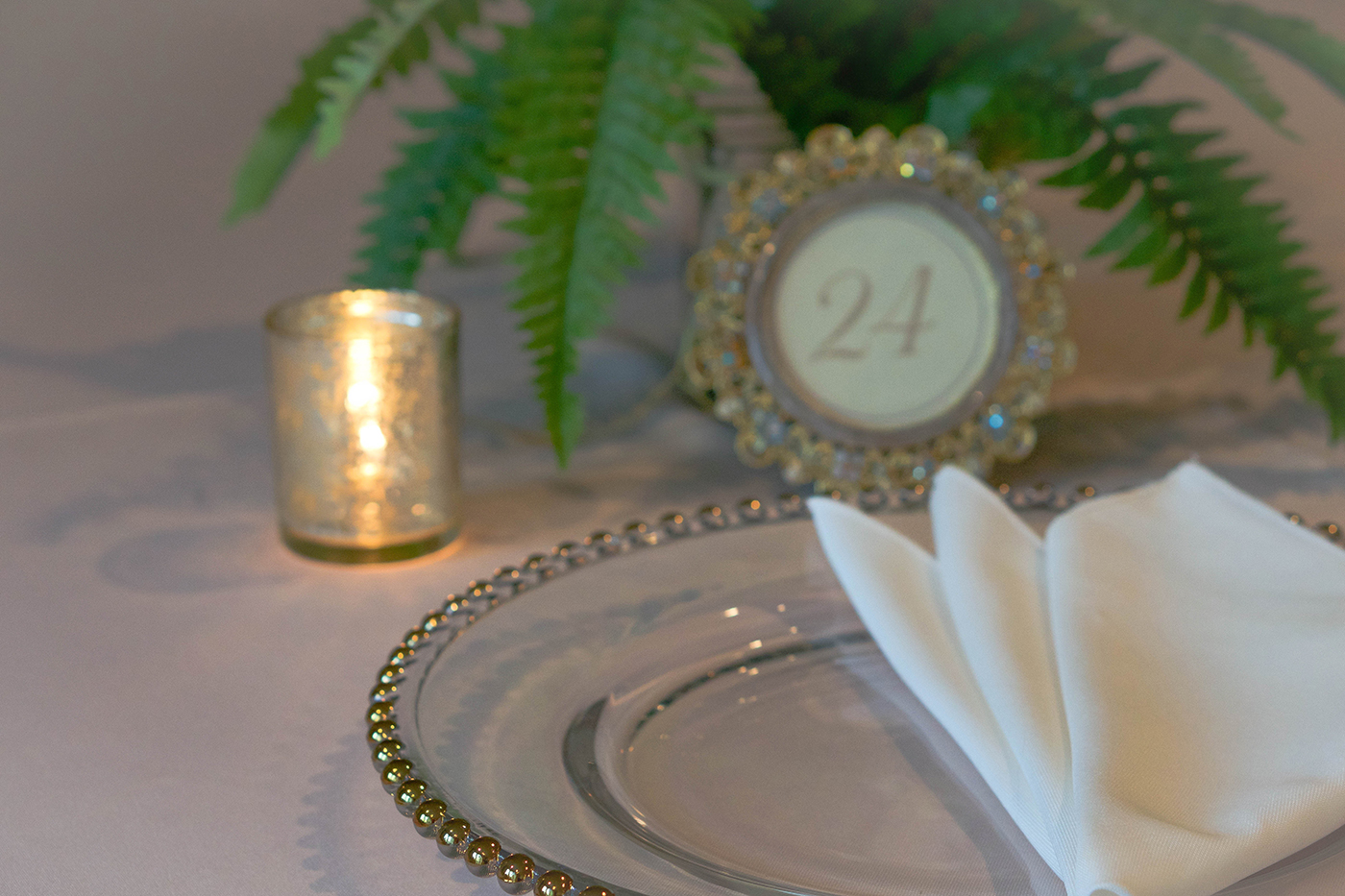 Gabriella Gold Beaded Charger Plate
